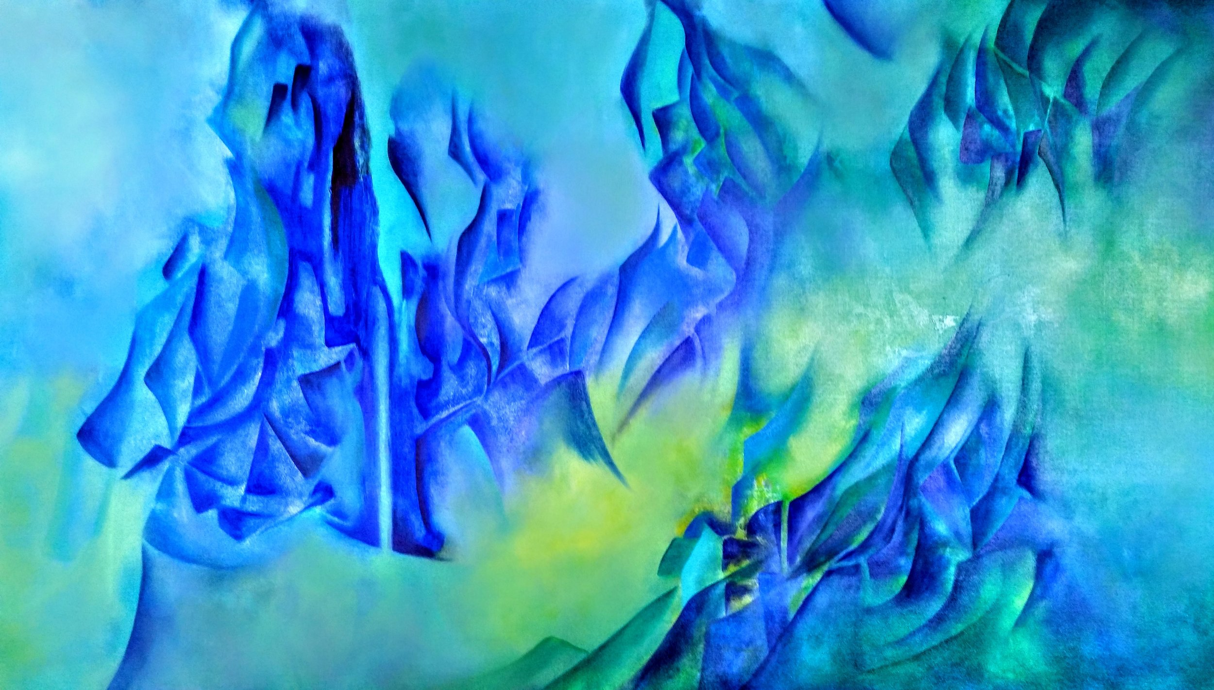 Agosto  Oleo/tela  90 x 180 cm
