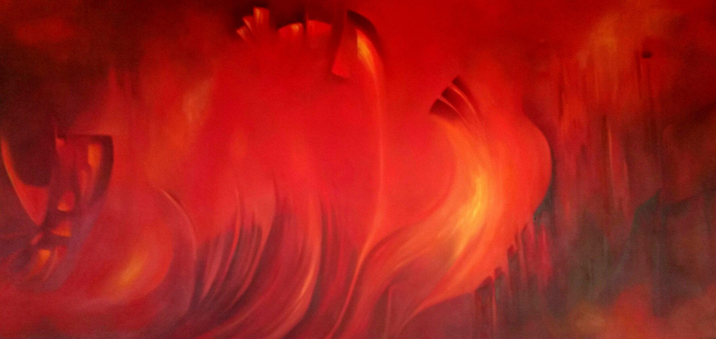 Cielo Rojo  Mixta/Tela  180 x 90 cm