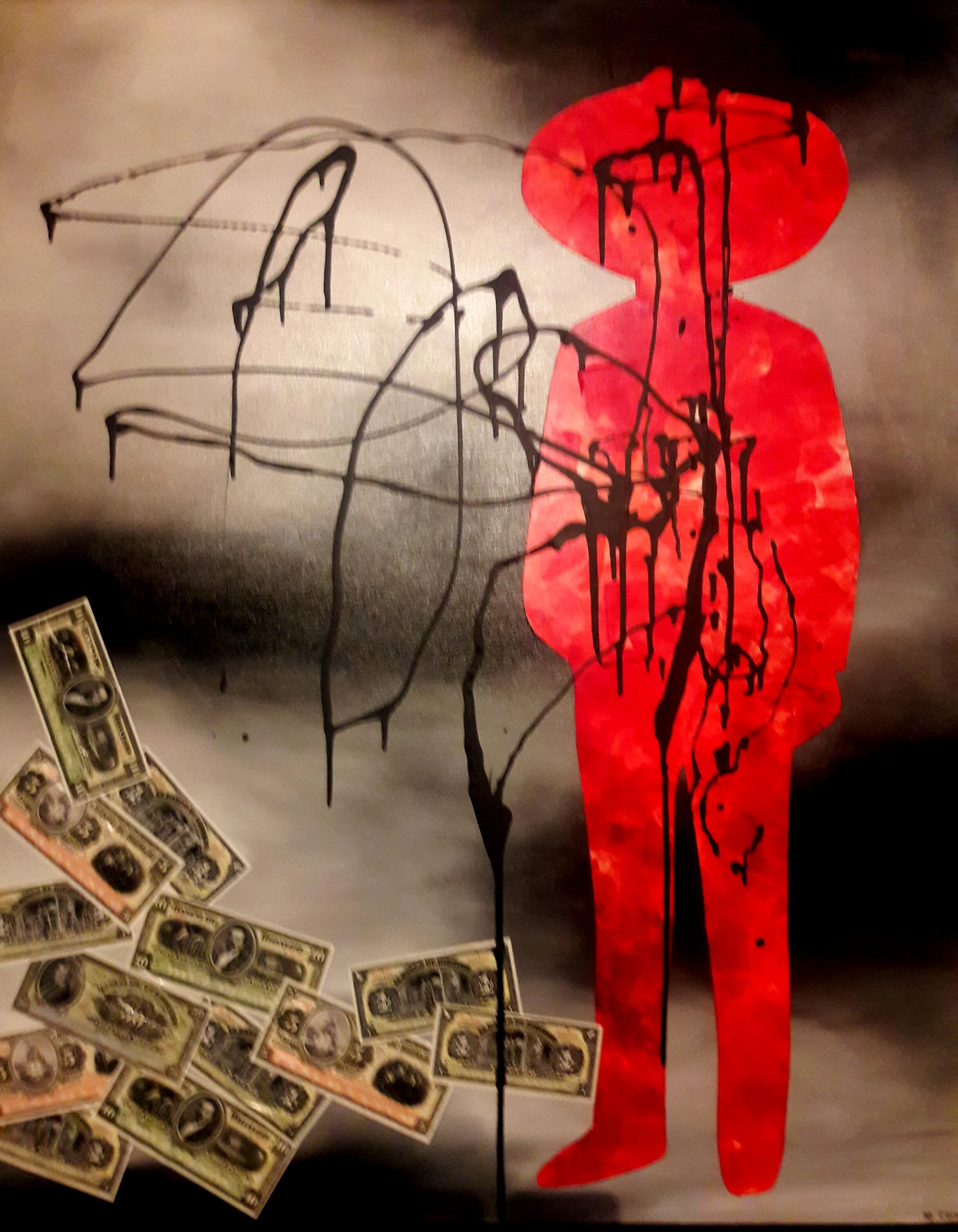 Revolucionario I  Mixta/Tela  120 x 100 cm