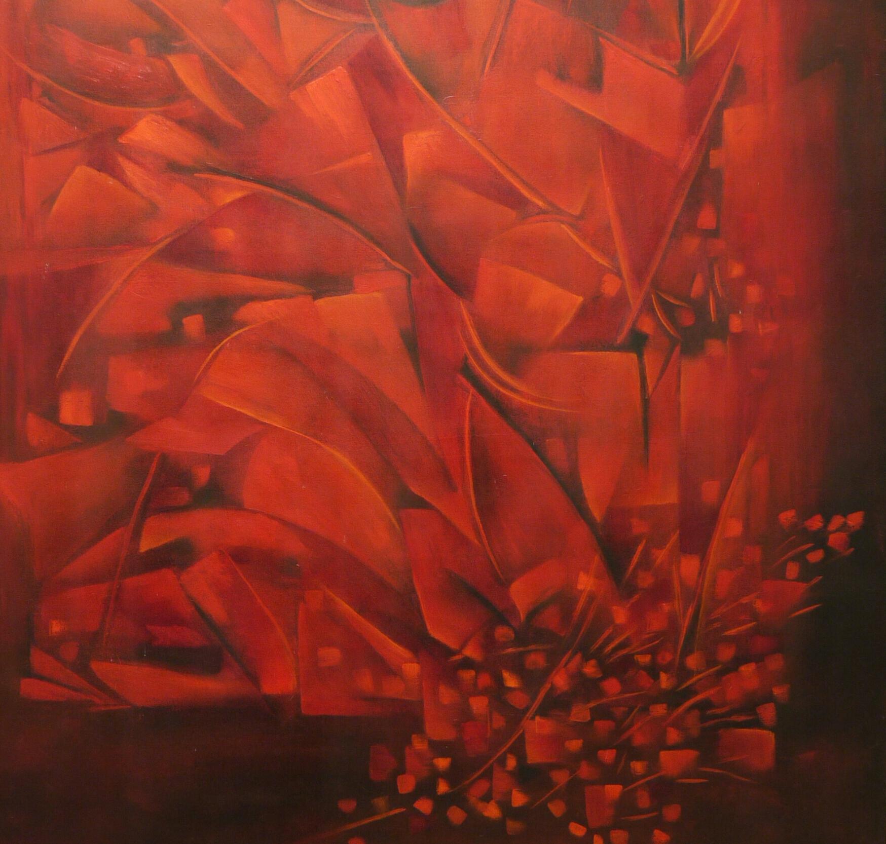 Ofrenda en Rojo  Mixta/Tela  110 x 90 cm