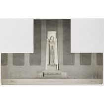 RIBA94924  Competition design for the Liverpool Cenotaph, St George's Plateau, Liverpool: elevations