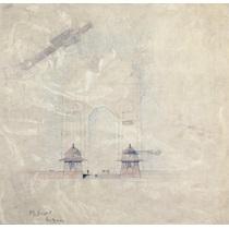 RIBA13029  Design for the All-India War Memorial Arch, New Delhi