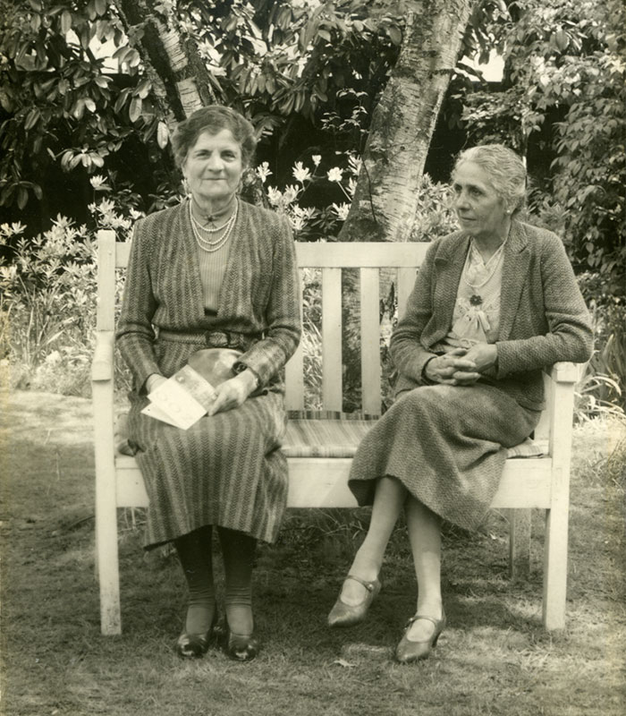 Ethel Mary Charles (left)