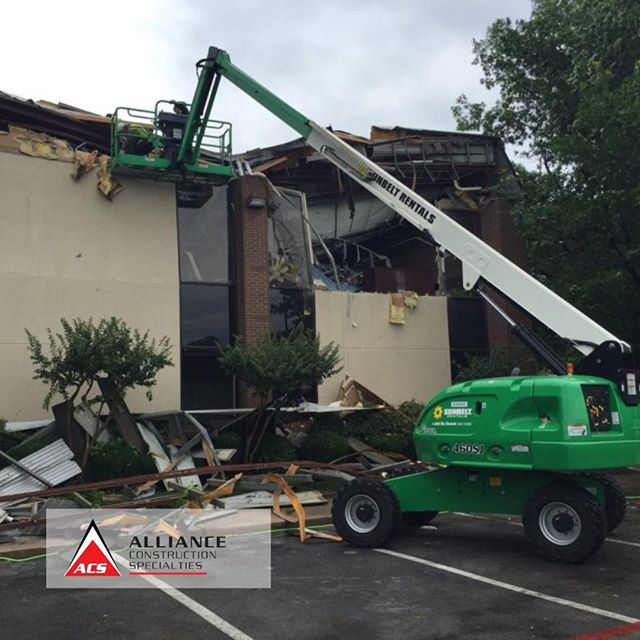 Out with the old, in with the new! #acsalliance #allianceconstructionspecialities #argyletexas