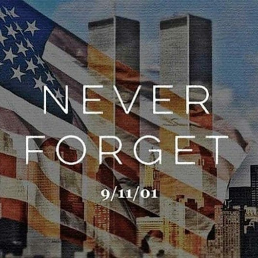 We will never forget those who were lost and all of the first responders that made the ultimate sacrifice on this day 18 years ago.