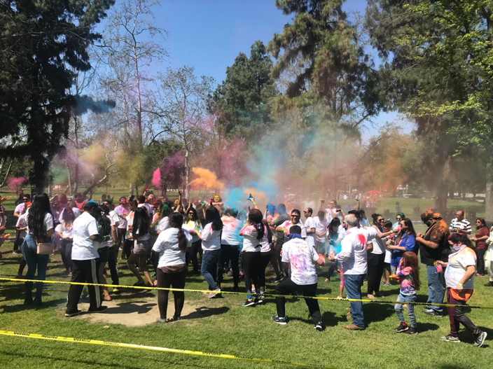 Holi Festival in Southern California. Holi, a festival of colors originating from the Indian subcontinent, signifies the arrival of spring, the blossoming of love and overall a festive day!