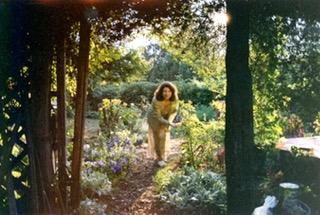 Marianne in her garden