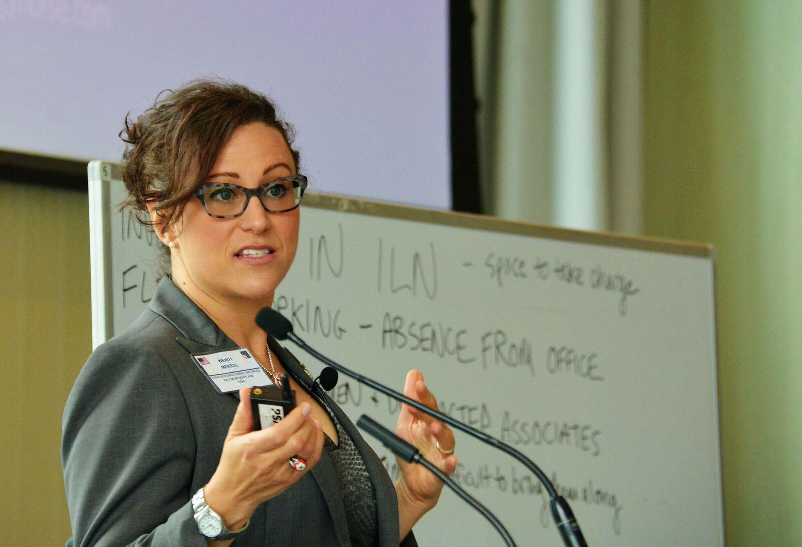 Wendy presenting to ILN members.