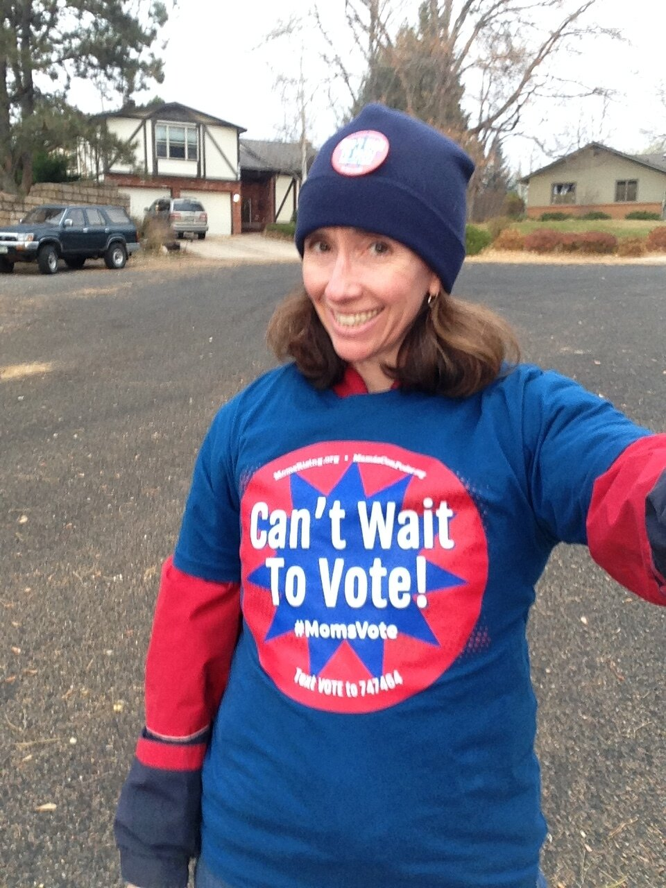 """I love this """"Can't Wait To Vote"""" t-shirt from Momsrising.org!"""