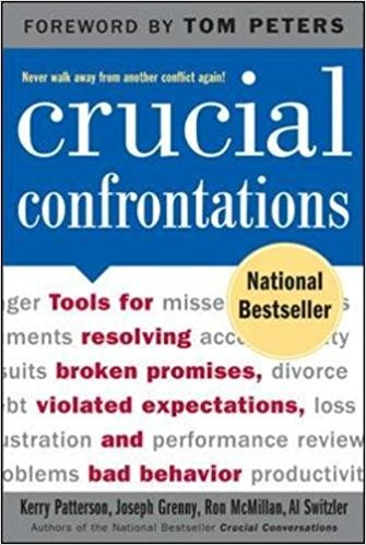 Crucial Confrontations - I used to struggle with confrontation, resolving issues, feeling comfortable talking and stating my feelings. This book helped me through so much of that.
