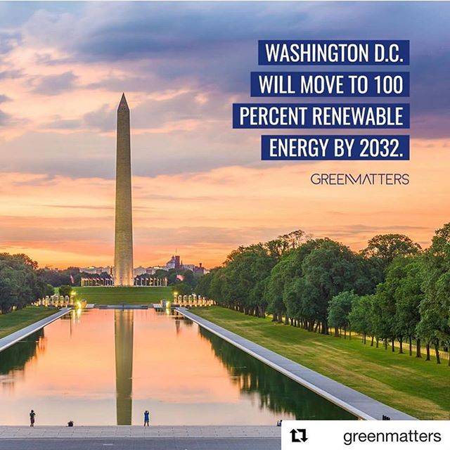 We'll be ready with our awesome energy storage tech for DC and every other city in the world to go green 💪 proud to operate in @thecitybeautiful where being green is such a priority ☀️