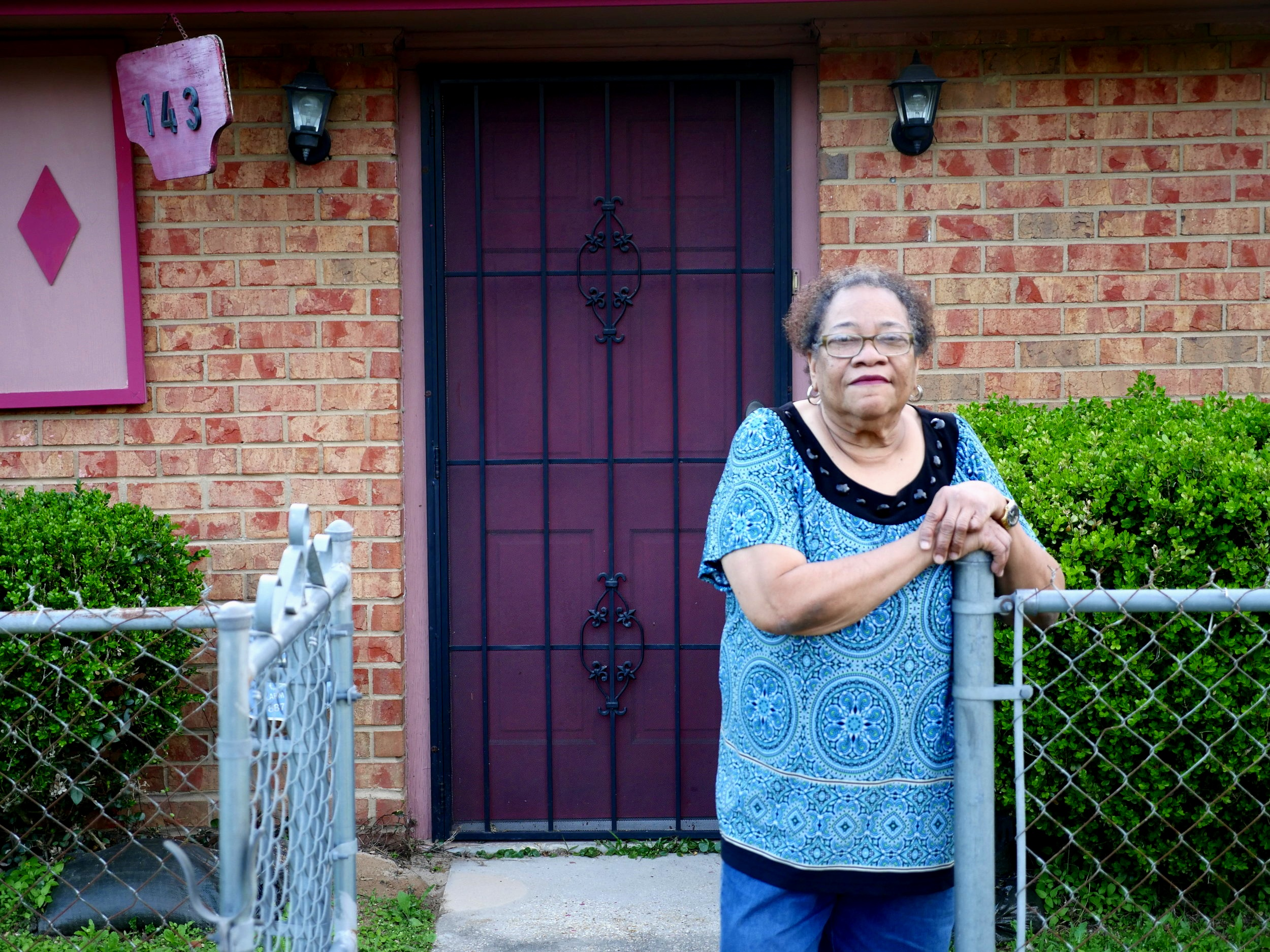 Gloria Dumas, pictured here, is a member of the Concerned Citizens of St. John the Baptist Parish community group. Concerned Citizens has been organizing since 2016 to reduce chloroprene emissions from the neighboring Denka/DuPont neoprene facility.