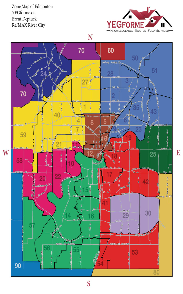 Edmonton Real Estate Zone Map