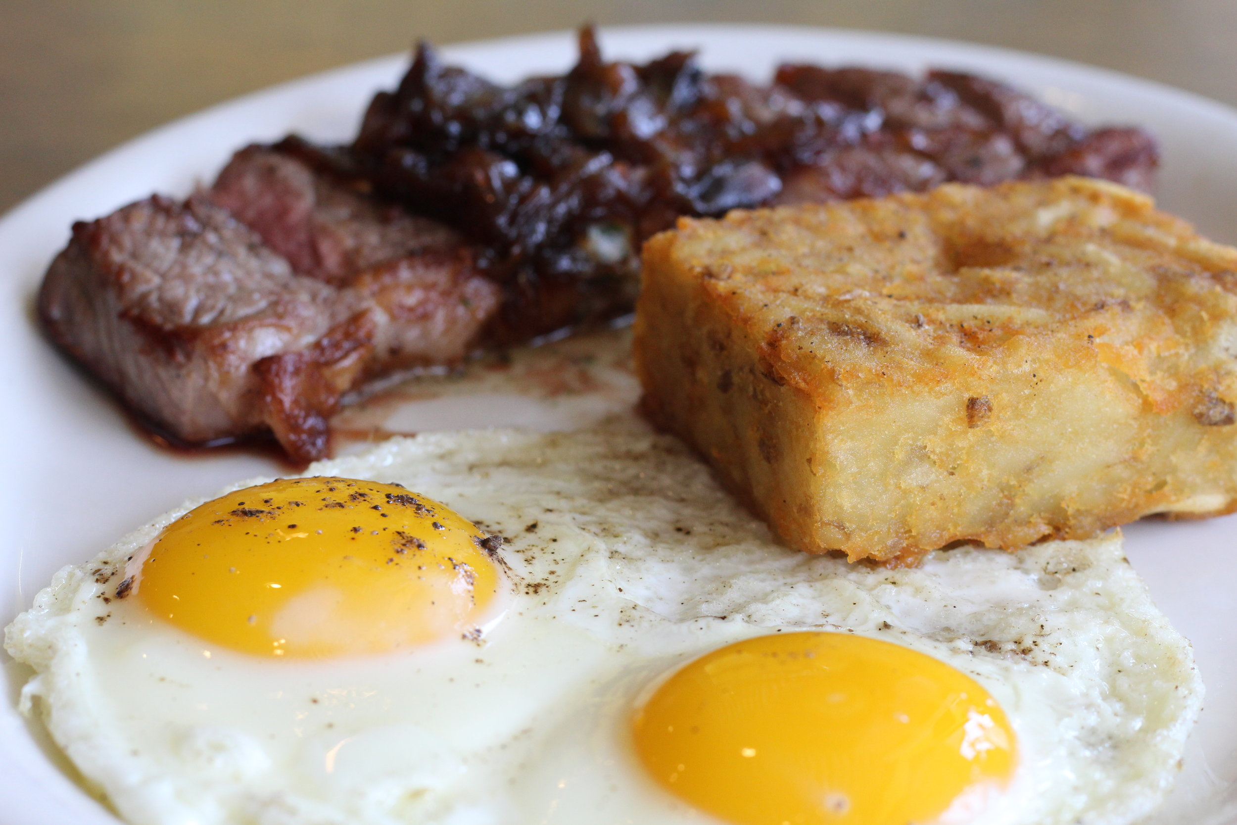 Steak + Eggs