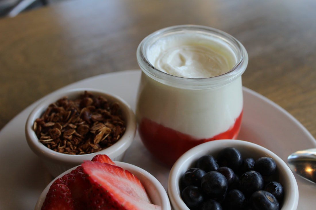 Greek Yogurt with Granola, Fresh Fruit + House Seasonal Jam