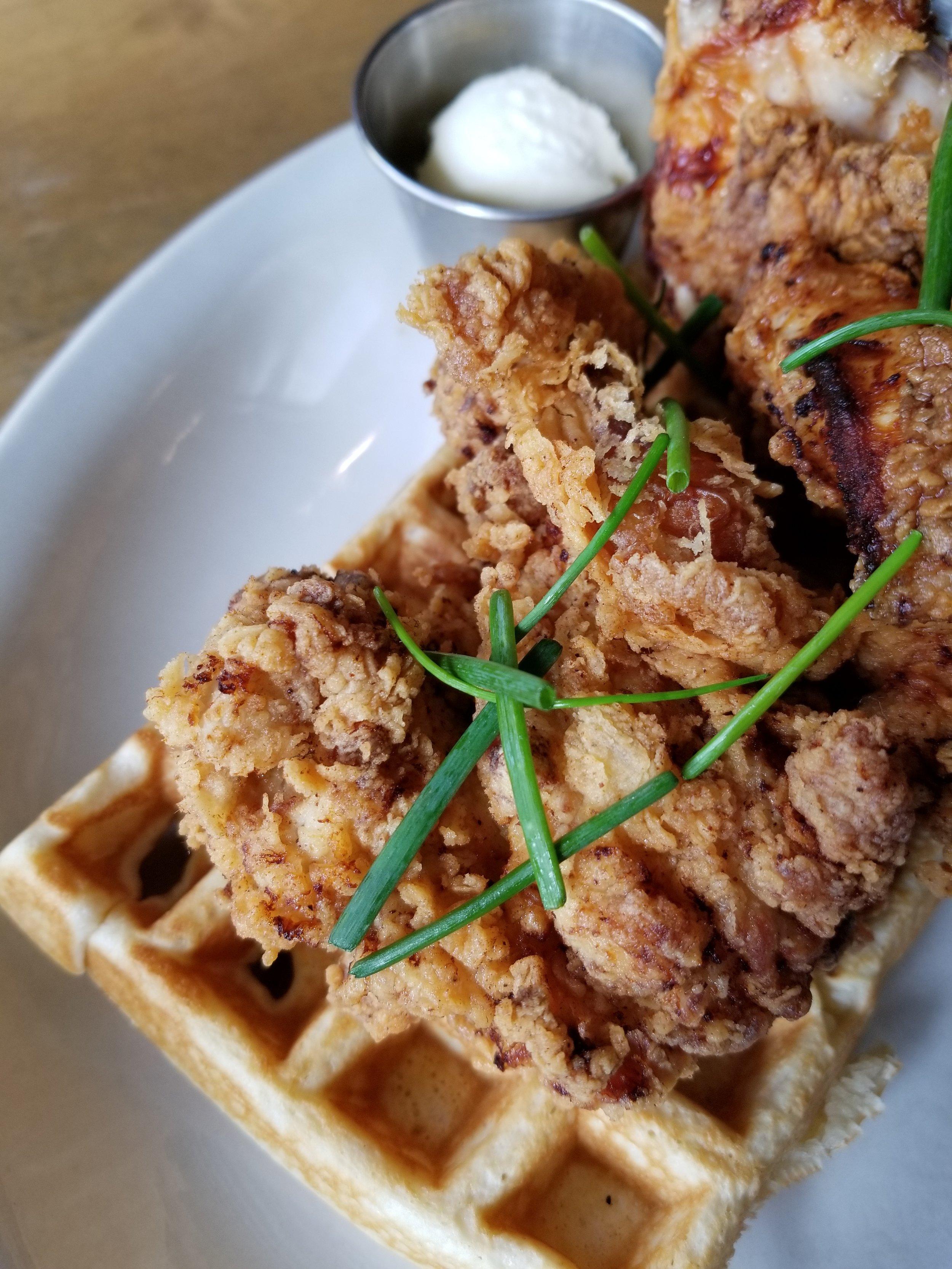 Buttermilk Fried Chicken Waffle Platter Poppy Rose