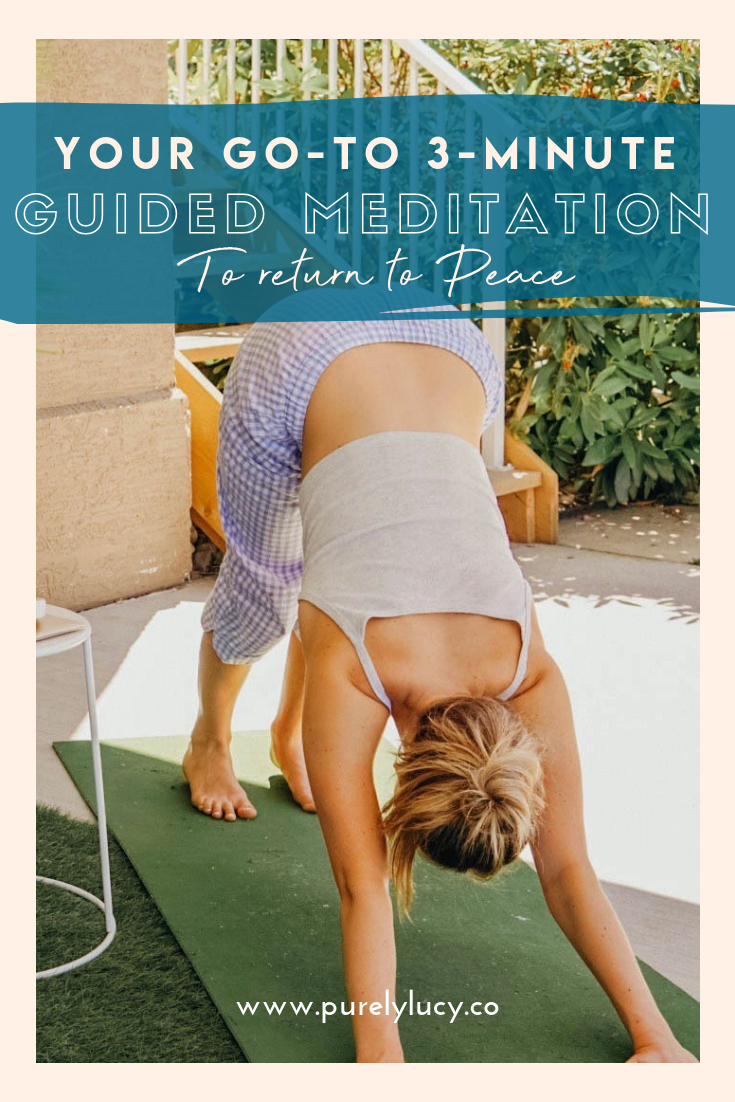Your Go-to 3-Minute Guided Meditation || @purelylucy