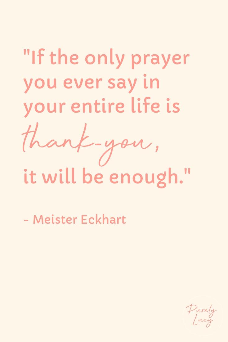 Thank-you || Meister Eckhart