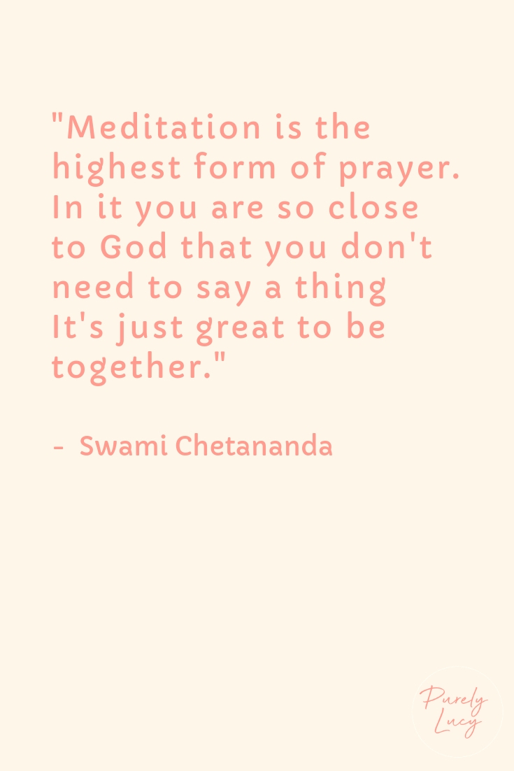 Prayer Meditation || Swami Chetananda
