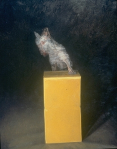 "Box , oil on linen, 82"" x 65"", 1994"