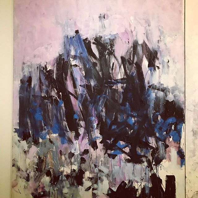 Seeing a lot of great painters- like this Joan Mitchell in the Epic Abstraction show at the Met.