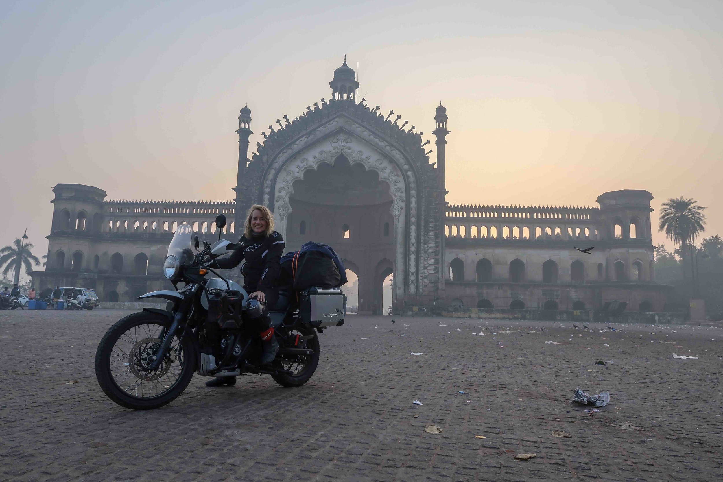 Sunrise at Rumi Darwaza in Lucknow.