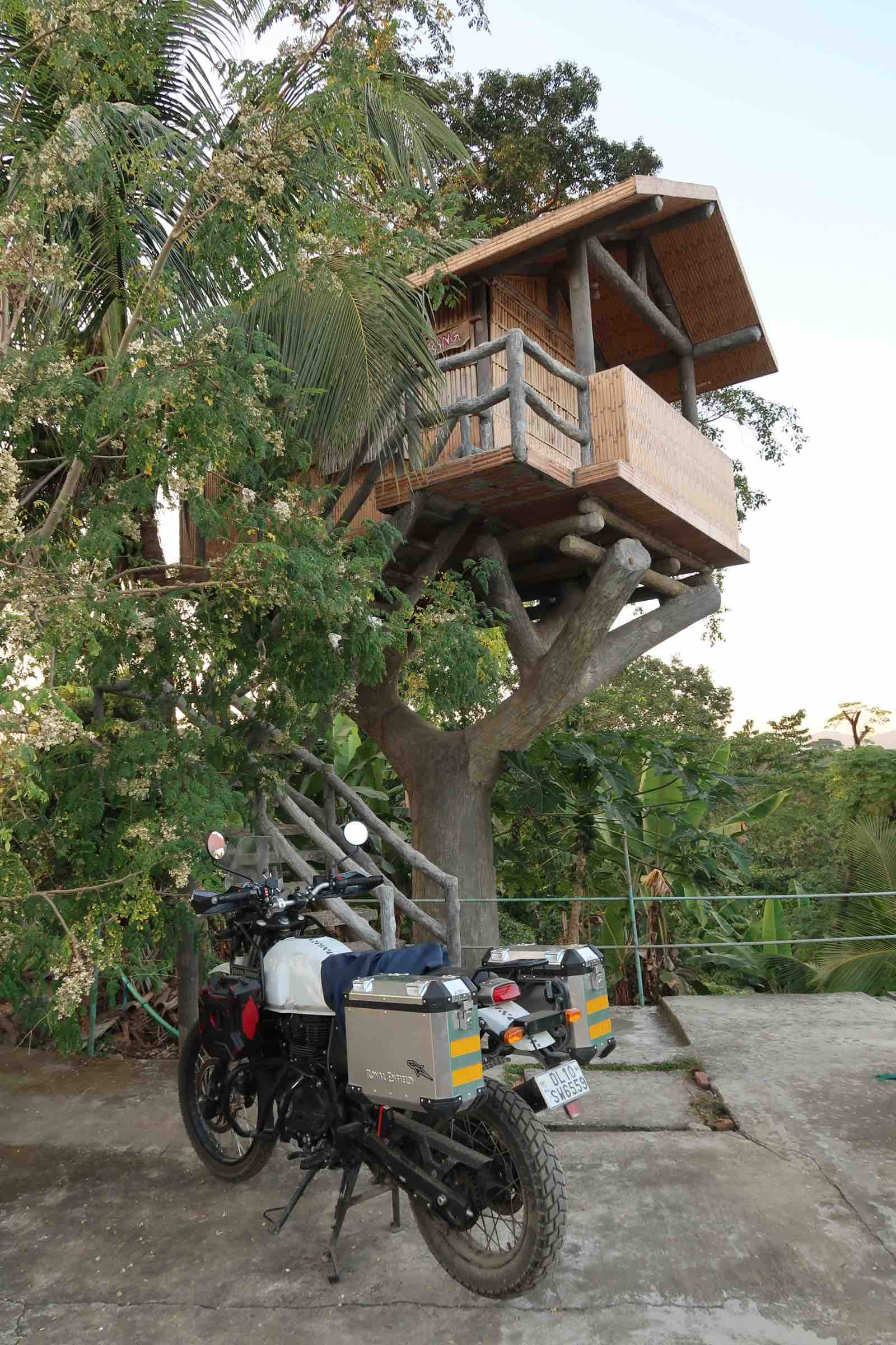 Treehouse accommodation in Tura, Meghalaya - India