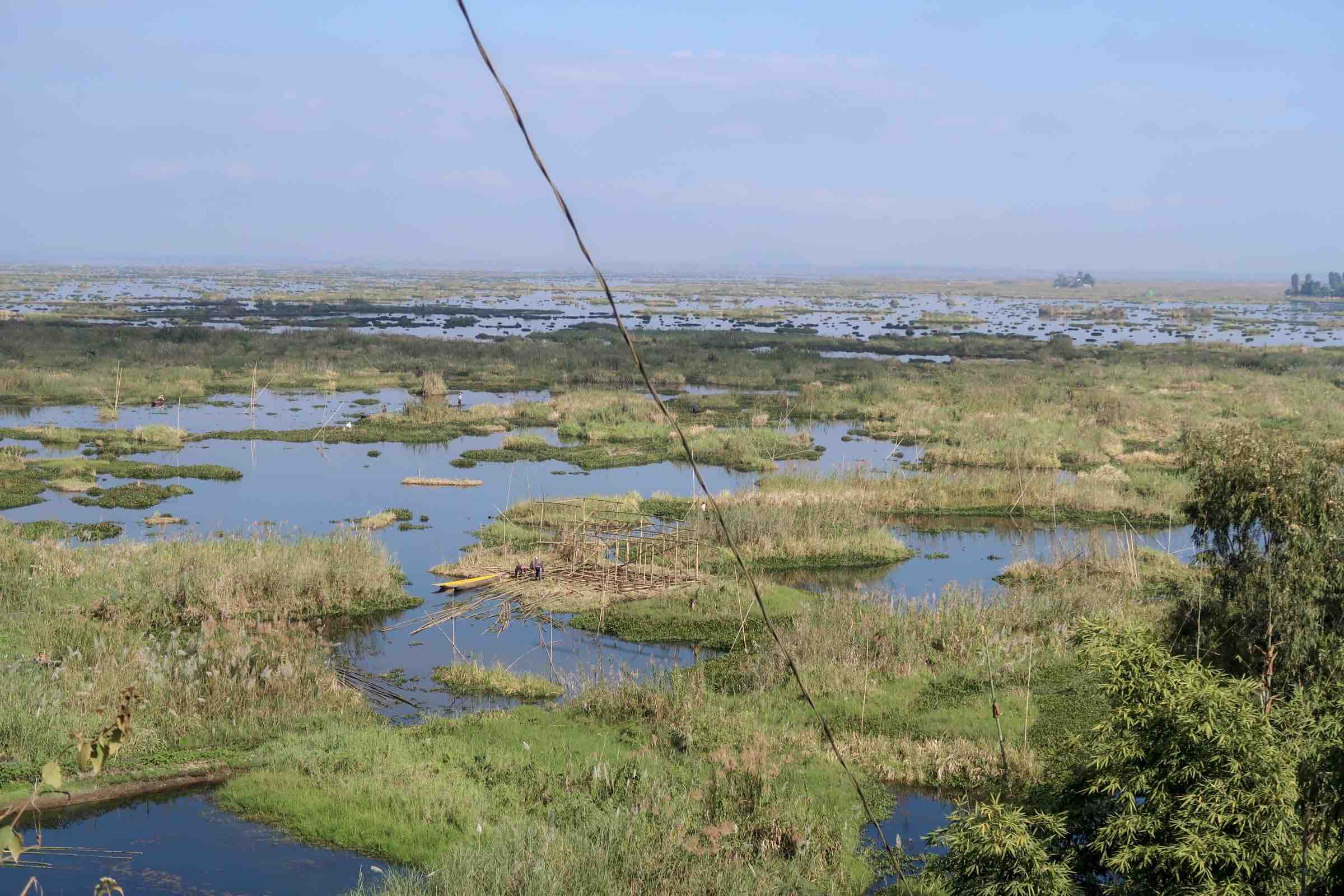 Overlanding Asia by motorbike - stopping at Loktak Lake in Manipur, North East India