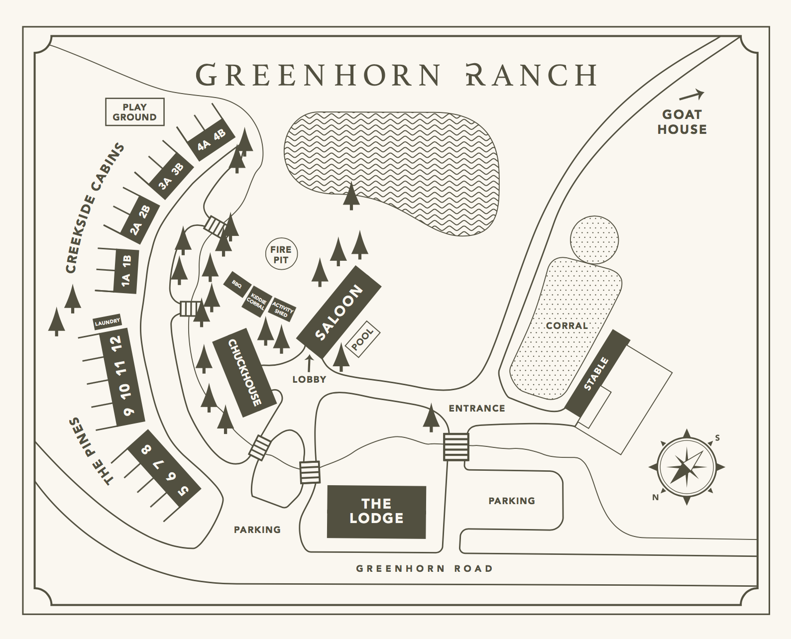 Map of Greenhorn Ranch property