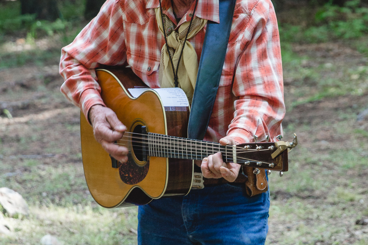 A cowboy and his guitar at Greenhorn Ranch