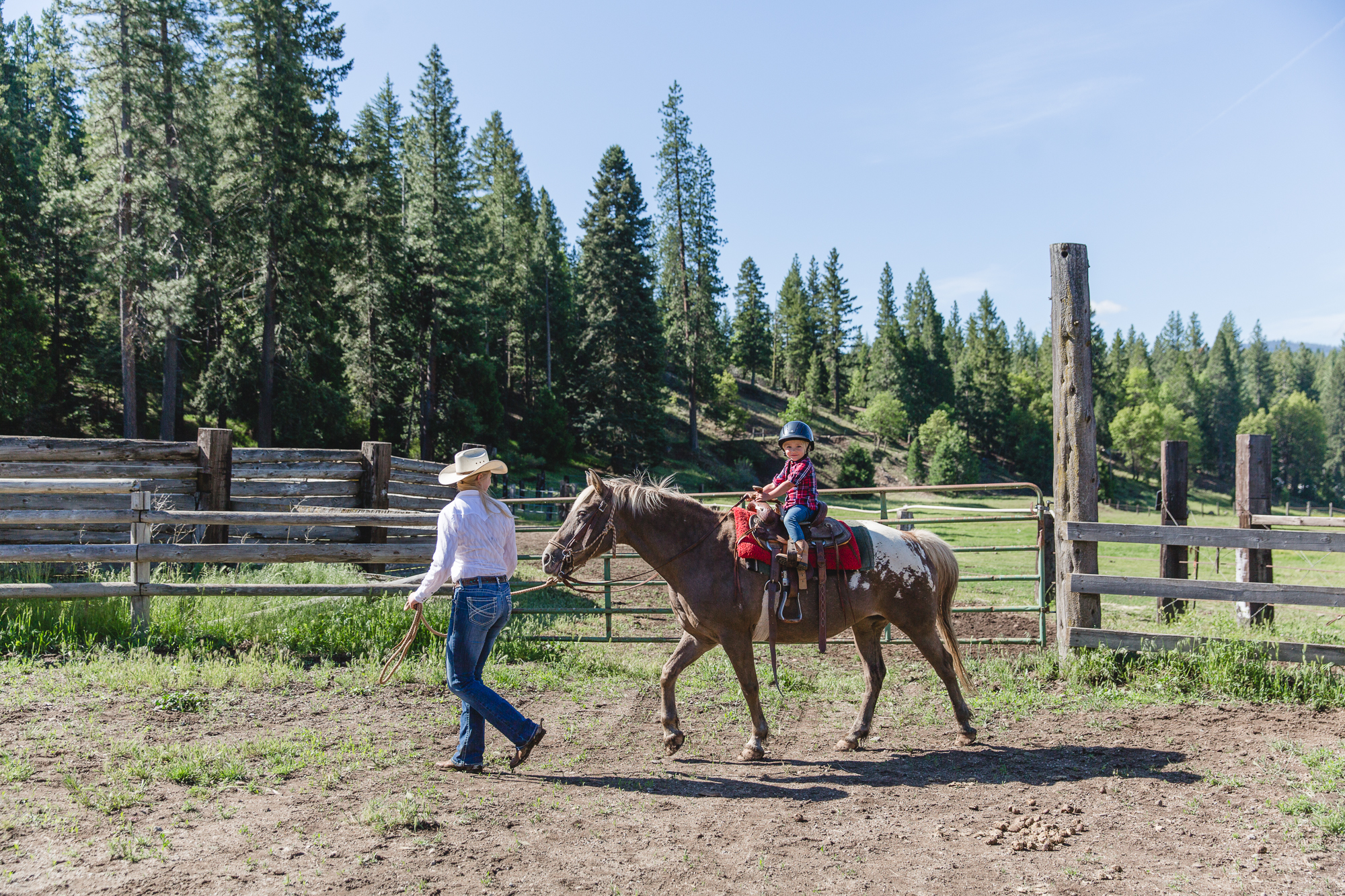 Learning to ride at Greenhorn Ranch