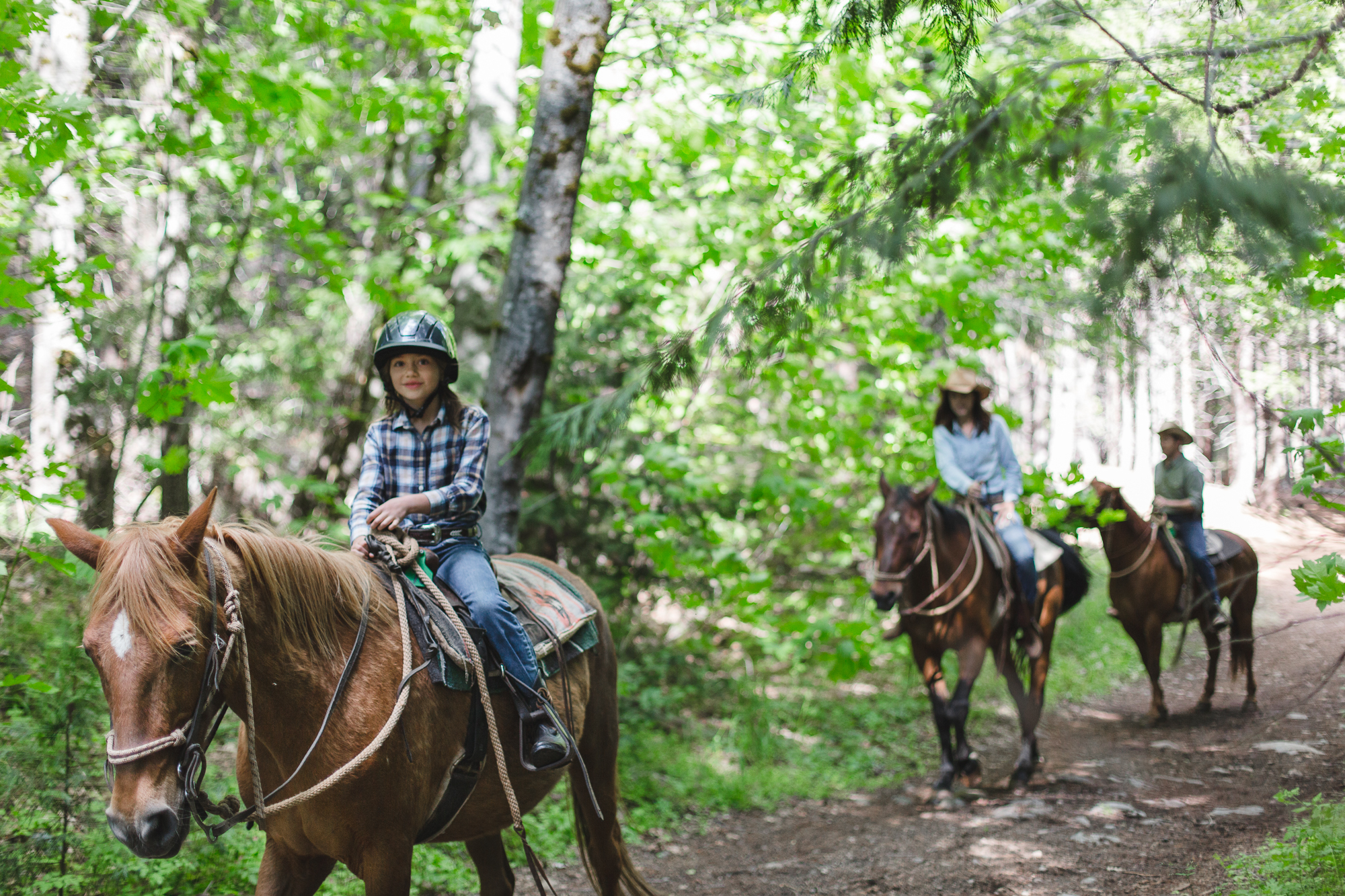 Kids are welcome on the trail at Greenhorn Ranch
