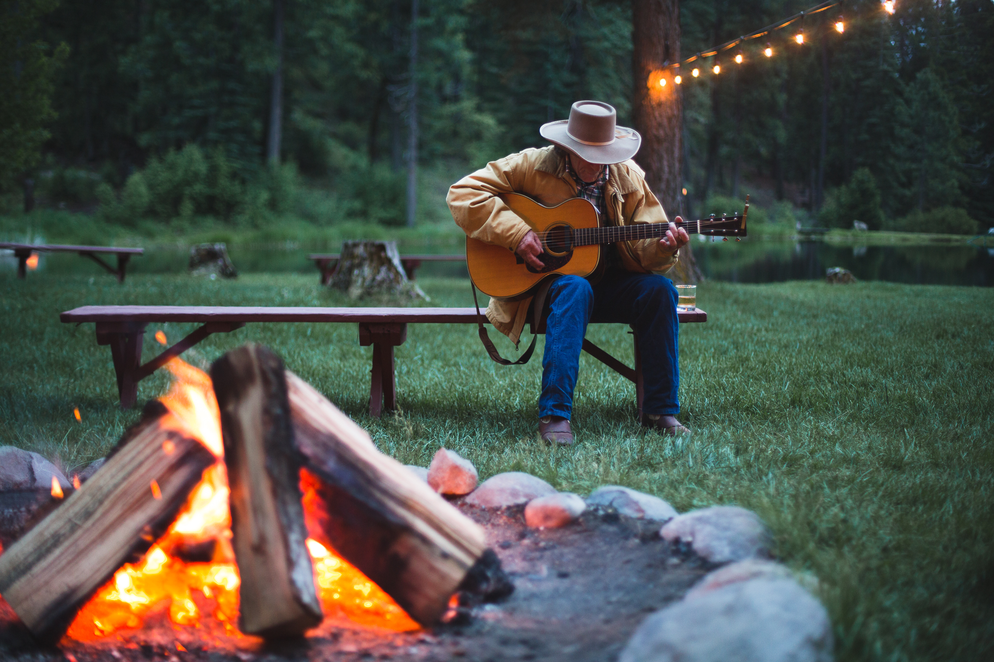 Cowboys by the Campfire at Greenhorn Ranch