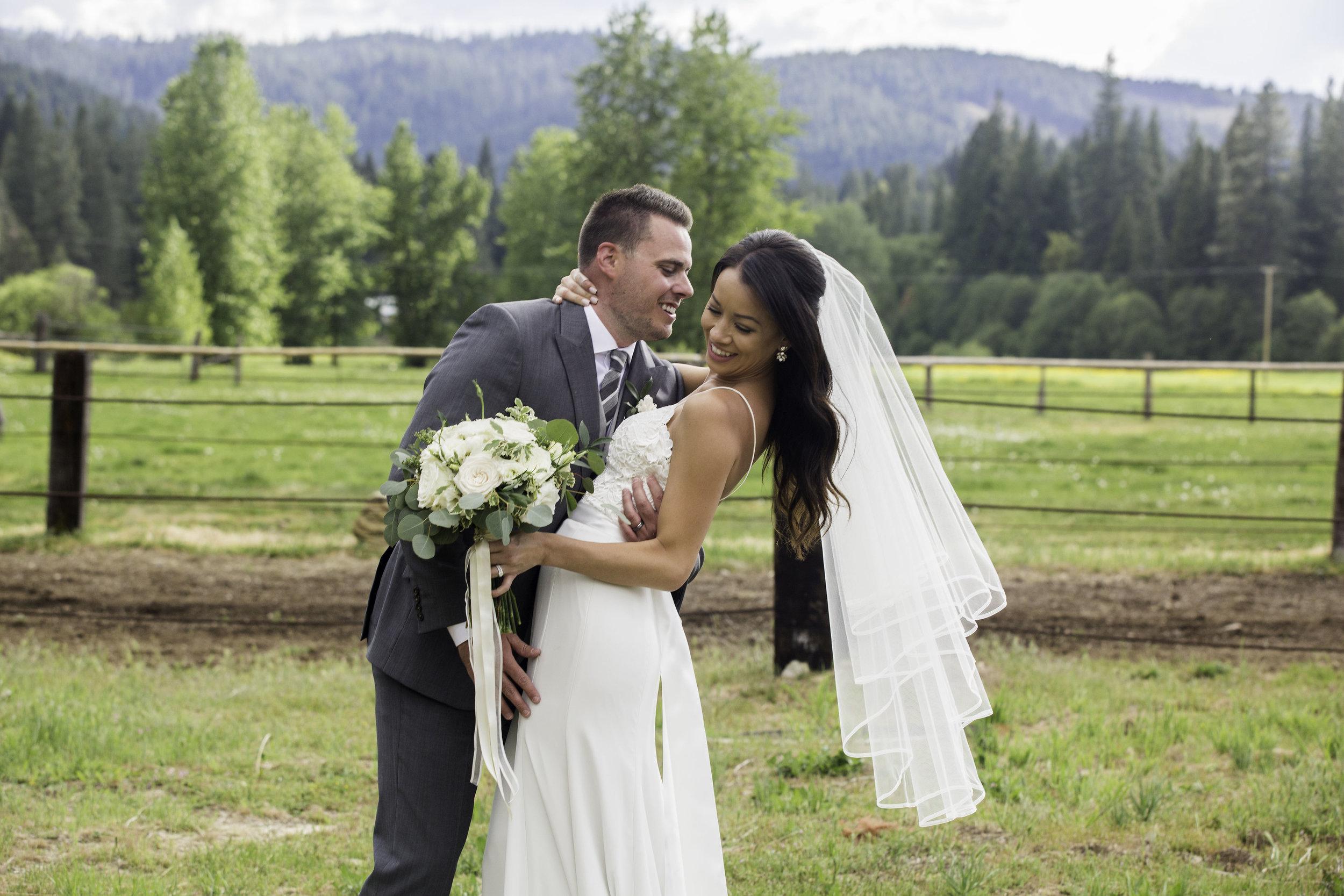 Romantic dude ranch wedding California