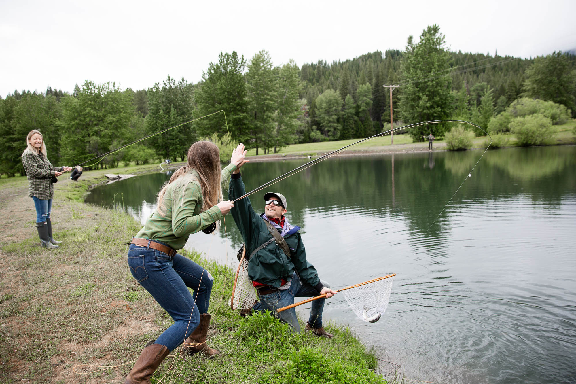 Fishing is another great activity that helps bring families together at Greenhorn Ranch