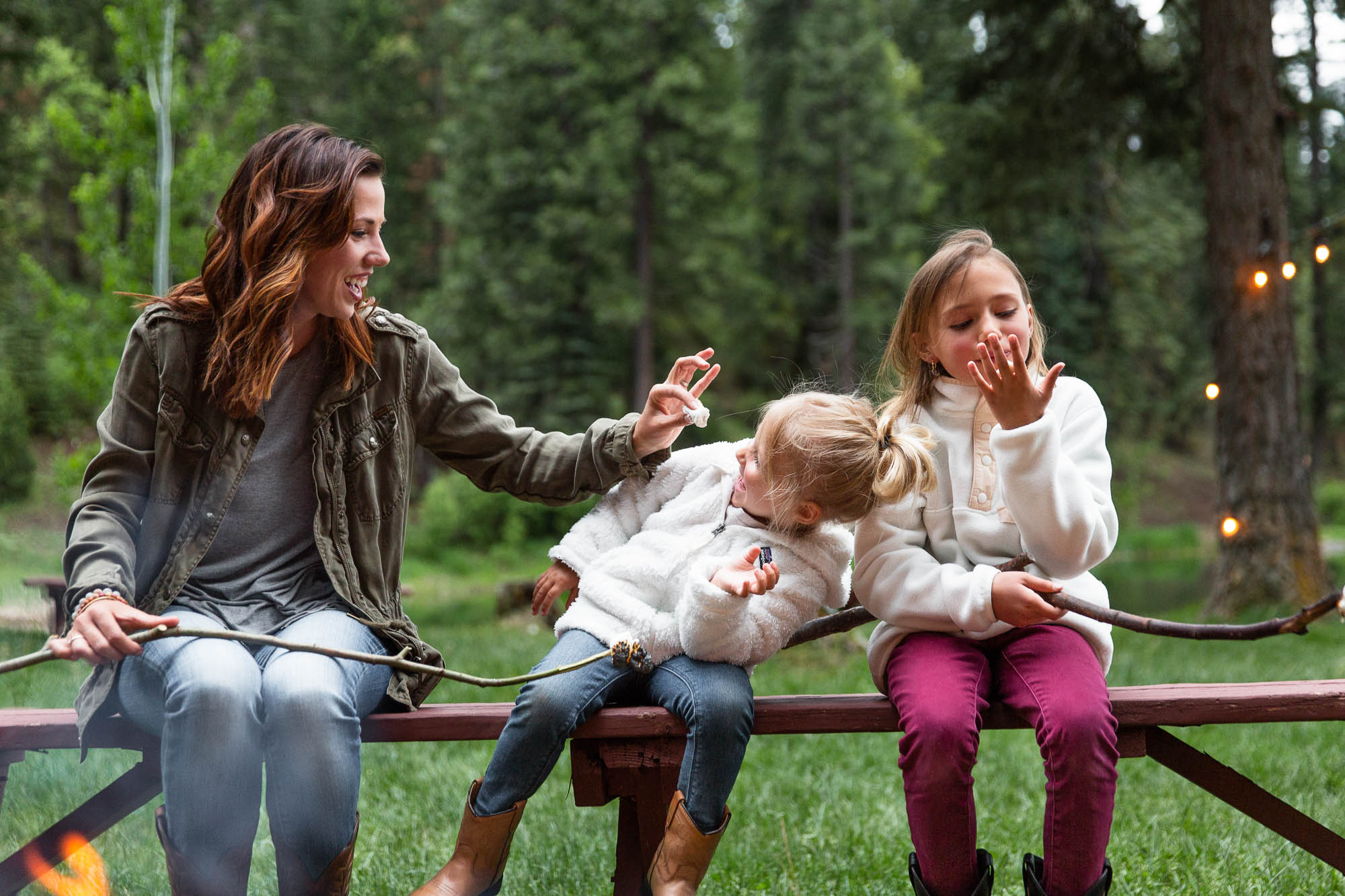 Families searching for a device free vacation can enjoy toasted marshmallows instead of WiFi at Greenhorn Ranch