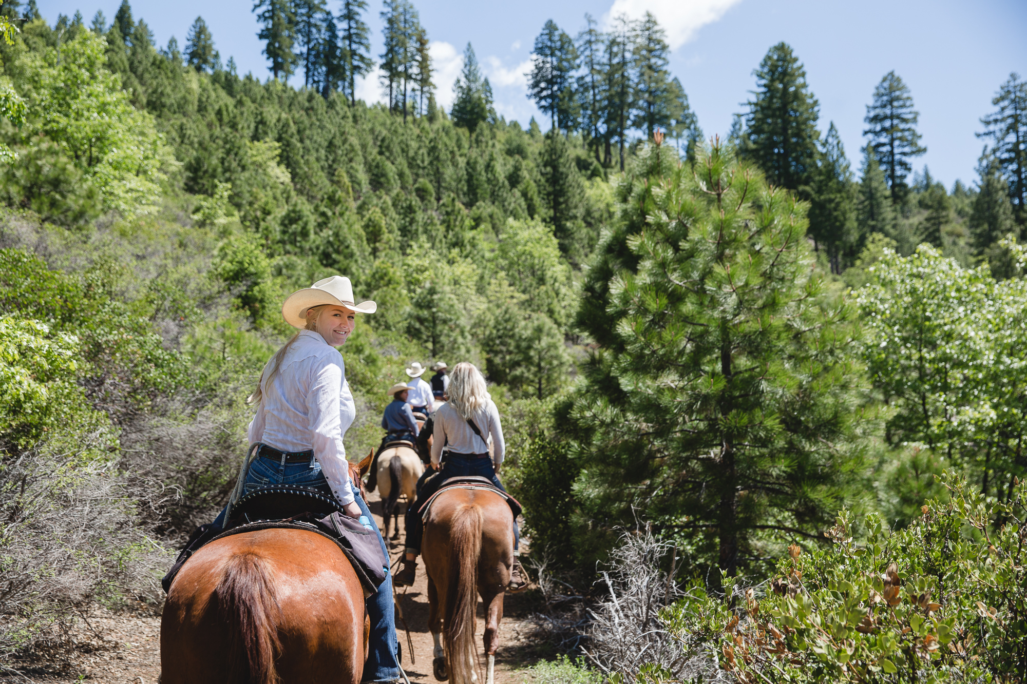 There is no cell phone service out on the trail at Greenhorn Ranch