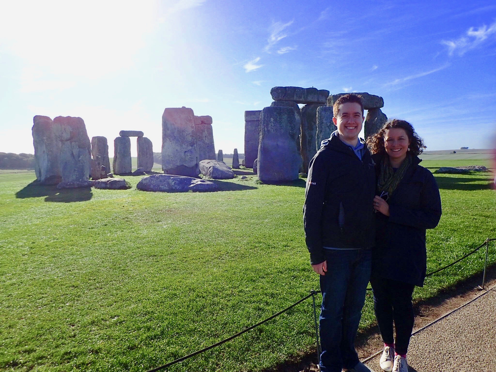 Gregory and his wife, Kathryn, at Stonehenge