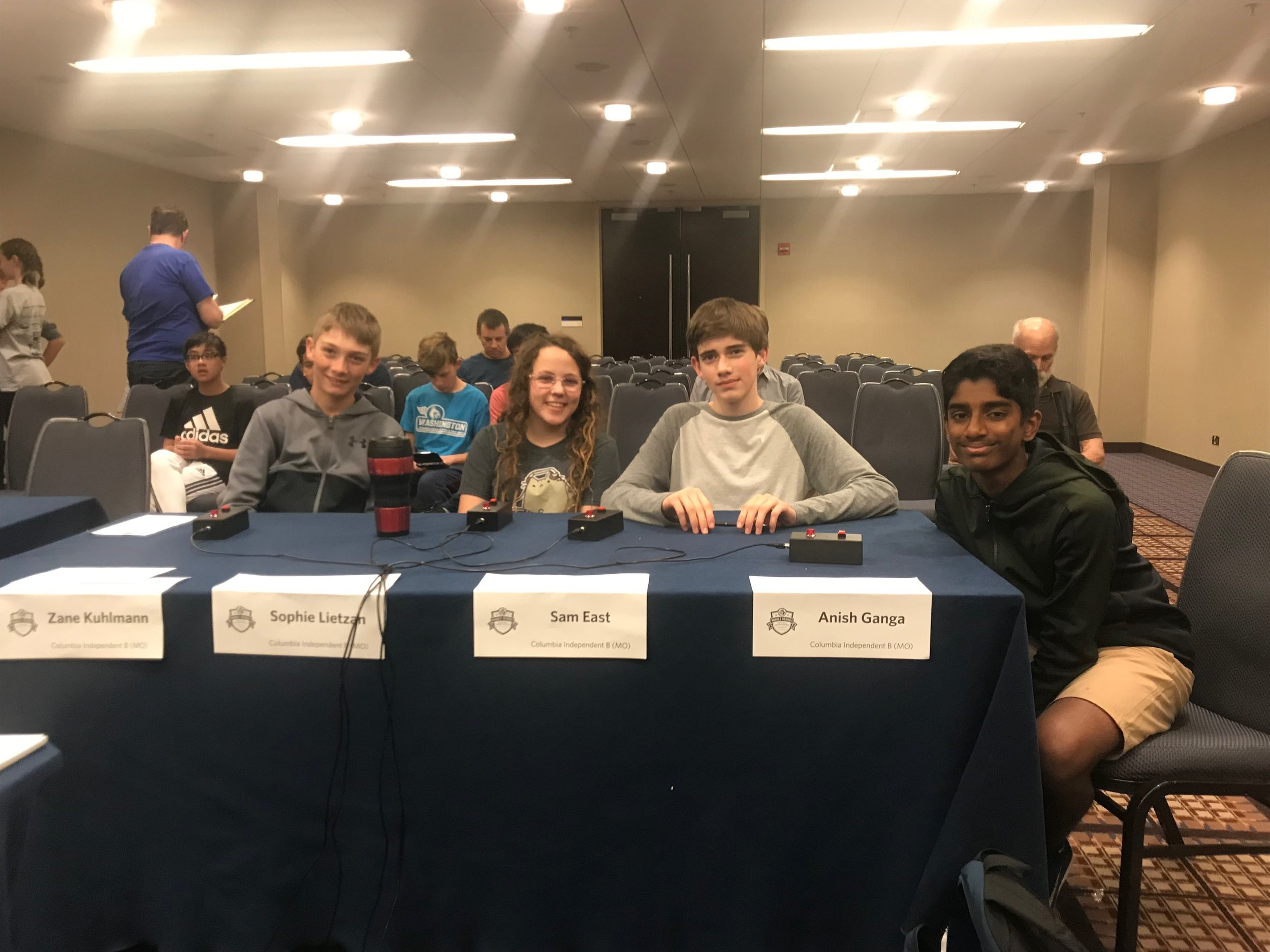 "The CIS Middle School Academic Bowl ""B"" Team"