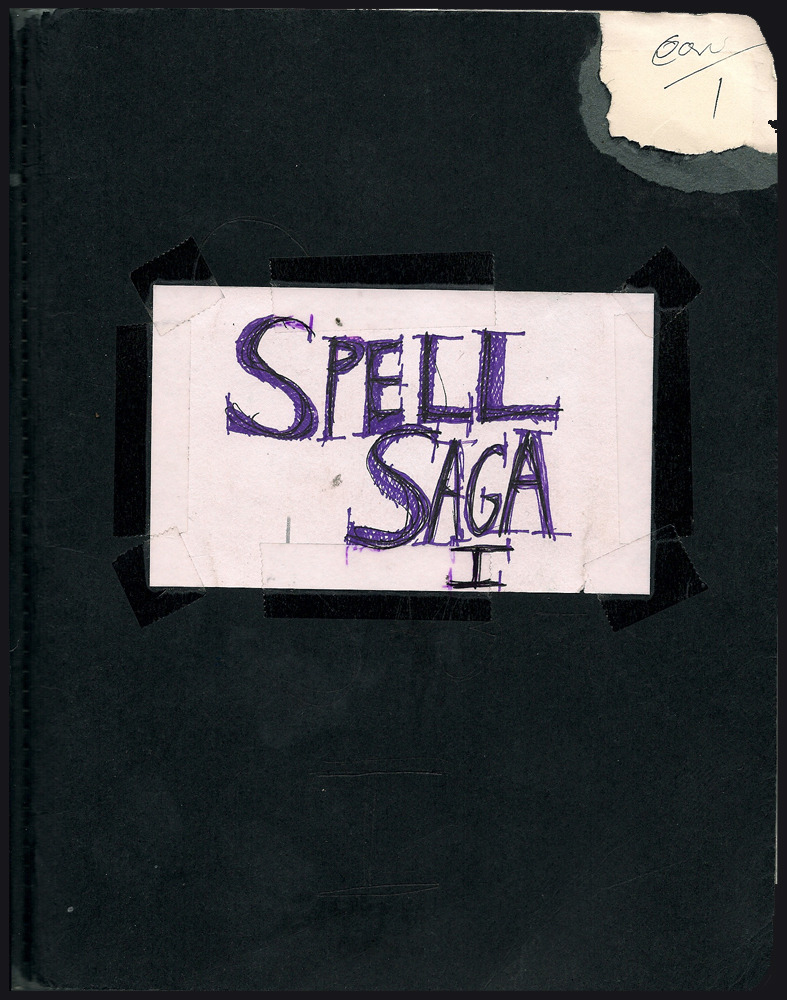 via patreon:      Here, in all it's glory–missing pages, slight spoiler free edits, and etc. Are my original design notes for Spell Saga. From 2009 to 2011. This is like…10% of the amount of notes I have for the game, but let's start here, at the beginning….         You will notice this is unlocked…as everything else is on the patreon page. Madness! I'm trying something new. It's been a month now, and I think I understand what I want out of this page. I am going to make everything free–madness! I know But… it is a privilege to have total strangers give a shit about the things I make. So here it is…all my notes, and scans: past, present, and going into the future. Here on this page.       For those of you who truly care to throw me a buck, there are fabulous prizes. The rewards system is being revamped, and donations are going to be considered cumulative. So if you can only spare 10 bucks a month toward me, and really want that 50 dollar reward? (me reading my unfinished novel) don't worry…in five months, you will qualify for that reward. There will be reward tiers now from $1 to $100 or more, but it's gonna take me some time to figure all of this out. Thanks for caring!         -mE.        PS the URL to see this on your phone is  HERE