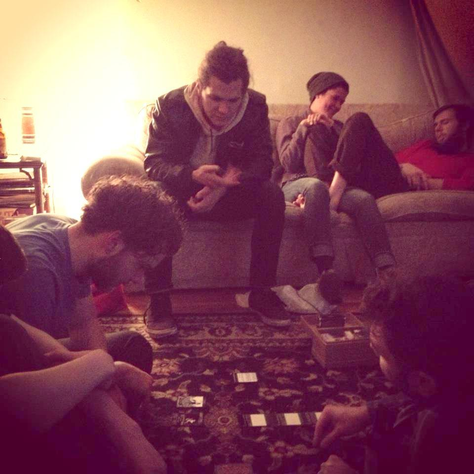spikedungeon :     Josh & I play The Game while Nathan comments.   My current favorite picture that is not of Meagen   Stolen from Karys, who took it without me knowing.   (secretly showing I have at least 4 friends!)