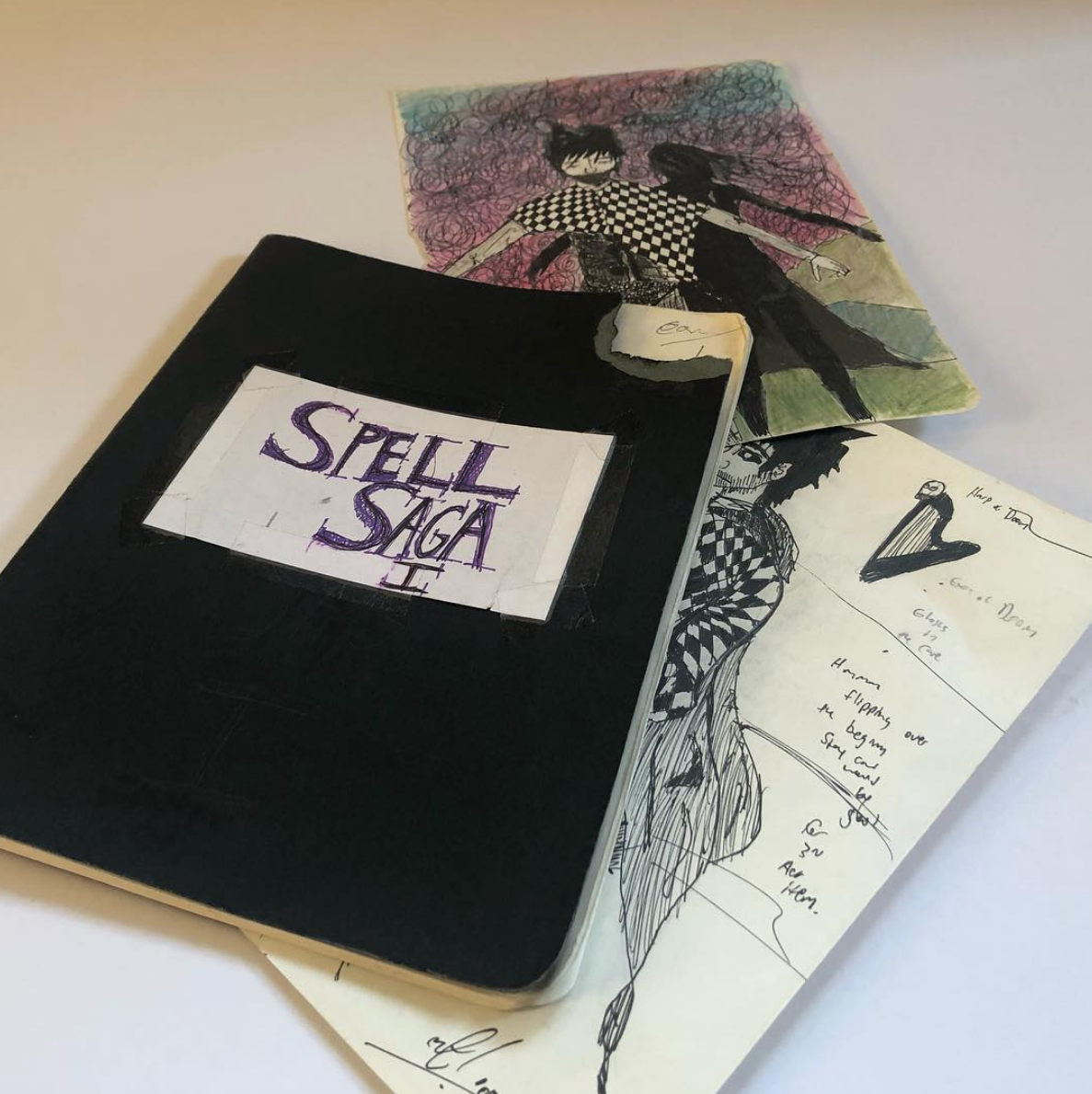 And here's my original design journal, gifted to Dheyrdre in Brazil (who you can also play with in the Prelude deck) I can't believe my original notes for the game are on their way down South as I type this (minus a few pages I just could not part with).