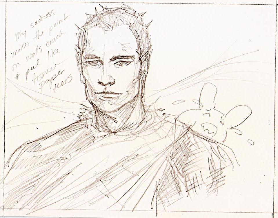 2011 Weshoyot Alvitre sketch of The Last Minstrel