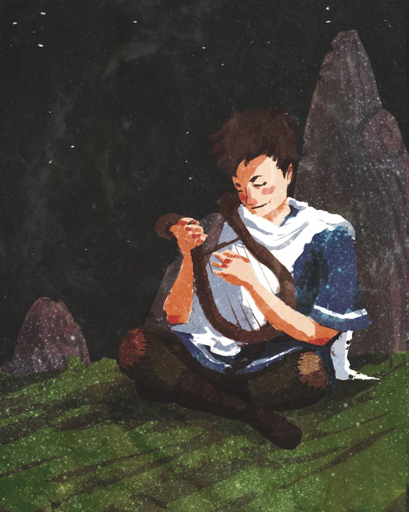2011 Lauren' Rogers's original and design defining portrait of The Last Minstrel