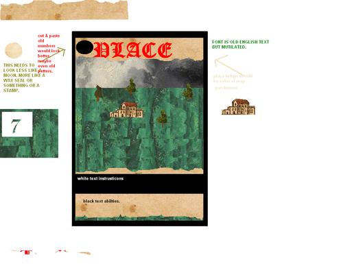2013 original design idea for PLACE cards