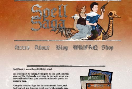 2013 screenshot of the 2nd Spell Saga website