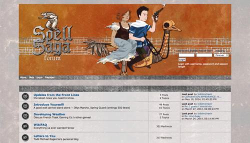2014 Spell Saga forum screenshot
