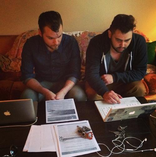 2014 Joshua & Todd work on the rulebook
