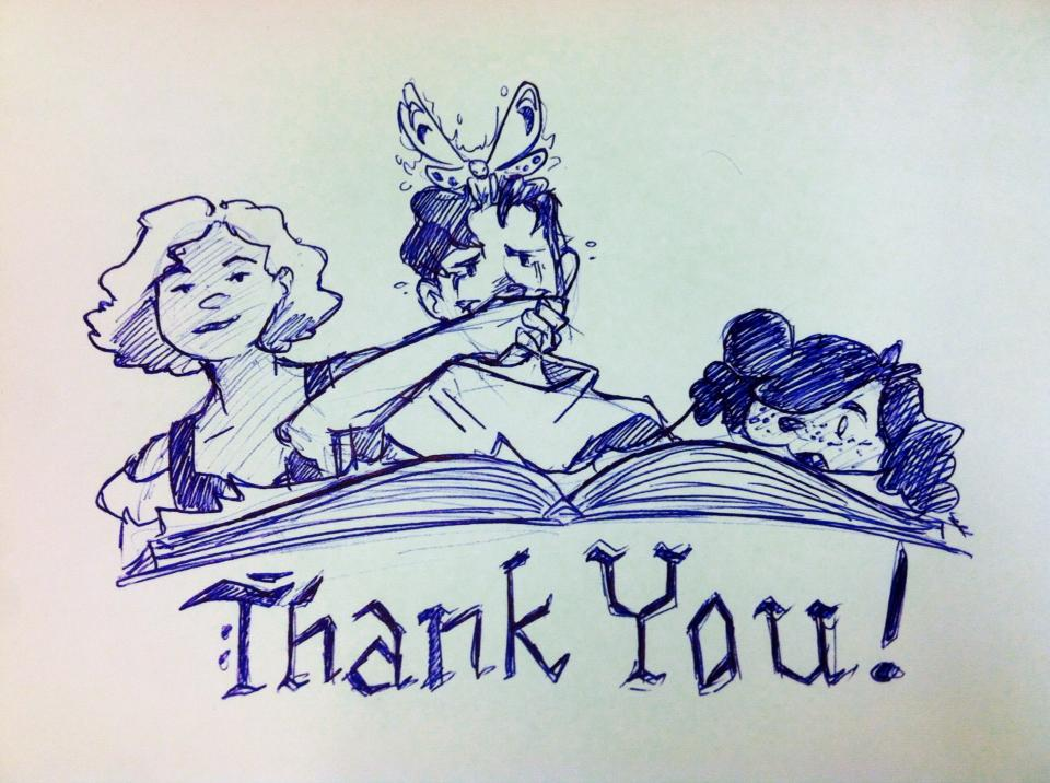 2014 Lauren's thank-you image posted when the funding ended successfully at $19,850