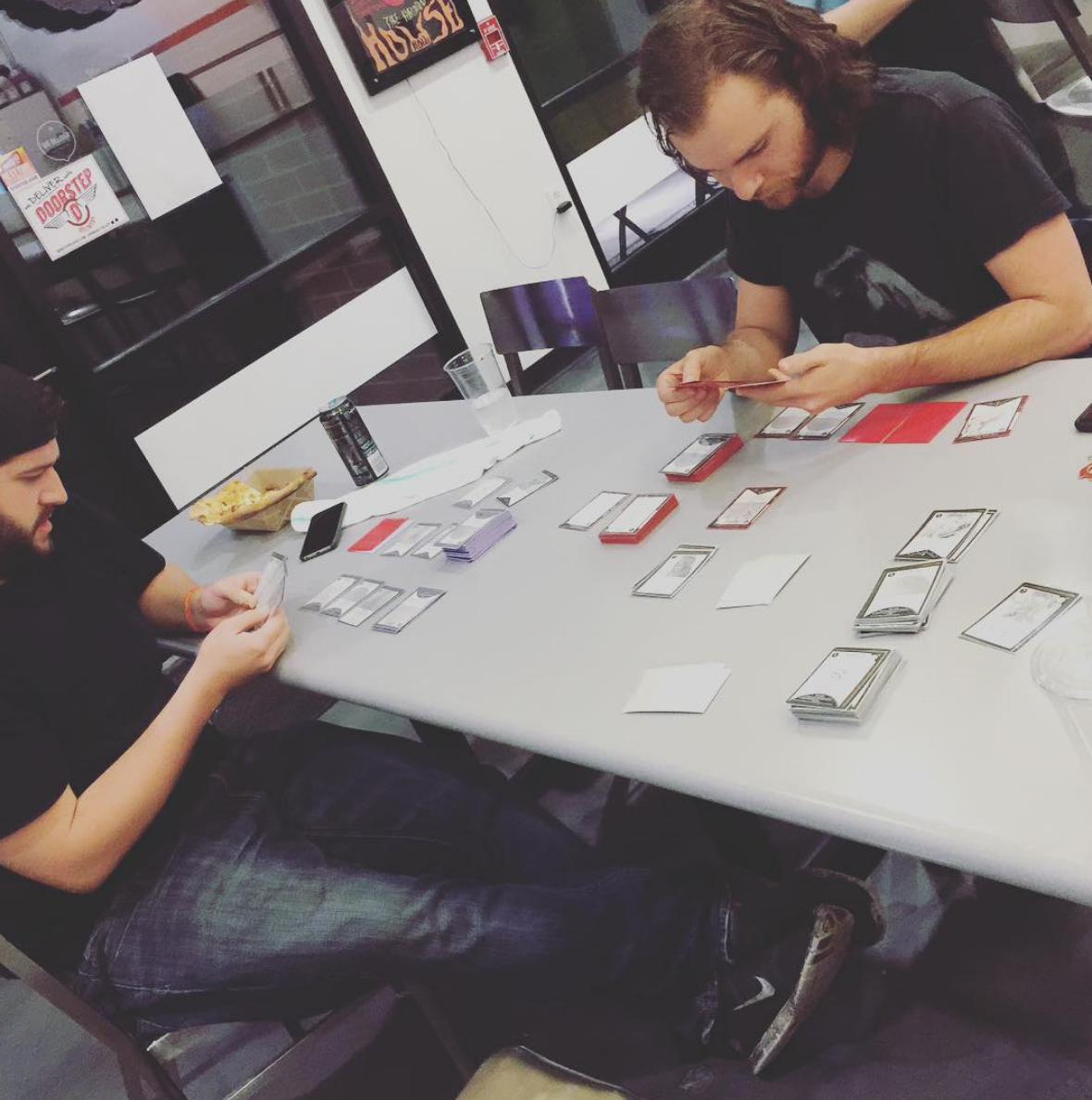 2015 EPIOCH session with Play Tester Jason (left) and Joshua (right) at Sushi Place nicknamed Club Fuck-Up